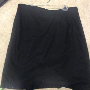 Black wool skirt